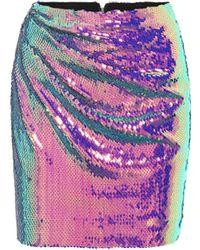 Alex Perry Exclusivo en Mytheresa – minifalda Braxter de lentejuelas - Morado