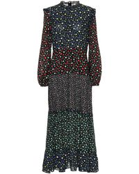 RIXO London Vestido Billie Mixed Ditsy con motivo floral - Multicolor