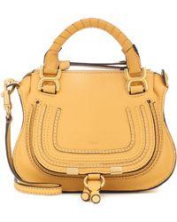 Chloé Mini sac à bandoulière Marcie - Jaune