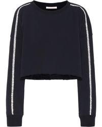 Christopher Kane - Embellished Jersey Sweatshirt - Lyst