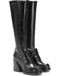 Chloé Adelie Leather Knee-high Boots - Black