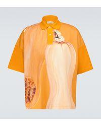 JW Anderson Polo Veggie de algodón - Naranja