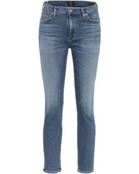 Citizens of Humanity Rocket Cropped Mid-rise Skinny Jeans - Blue