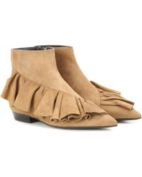 JW Anderson - Ruffle Suede Ankle Boots - Lyst