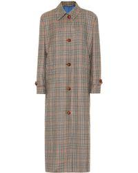 Giuliva Heritage Collection Manteau Maria en laine vierge à carreaux - Multicolore