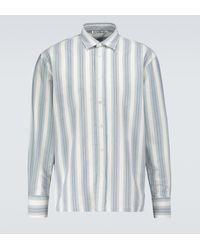 Acne Studios Saipen Striped Long-sleeved Shirt - Grey
