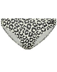 Solid & Striped Slip bikini The Eva a stampa - Neutro