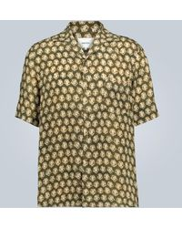 Nanushka Hemd mit Batik-Print - Grün