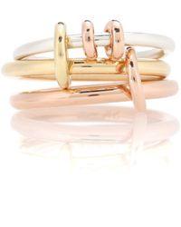 Spinelli Kilcollin Ring Raneth aus 18kt Rosé- und Gelbgold mit Sterlingsilber - Mehrfarbig