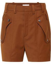 Chloé - Shorts aus Woll-Twill - Lyst