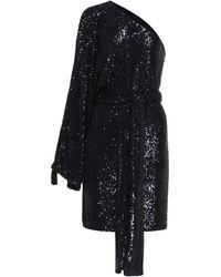 Dundas Robe asymétrique à sequins - Bleu