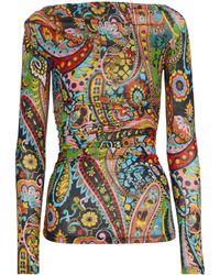 Etro Top de punto elástico paisley - Multicolor