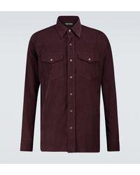 Tom Ford Western Corduroy Shirt - Red