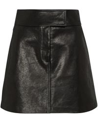 Khaite Mini-jupe Giulia en cuir - Noir