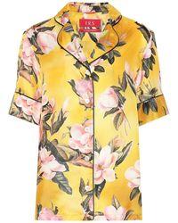 F.R.S For Restless Sleepers Blusa pigiama Bendis in raso - Giallo