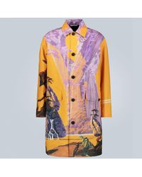 Valentino Exclusive To Mytheresa – Technical City Print Coat - Yellow