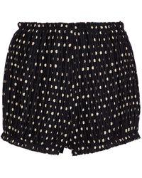 Khaite Hilary Silk Shorts - Black