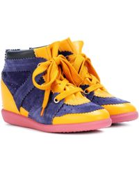 Isabel Marant - Betty Suede Wedge Heel Trainers - Lyst