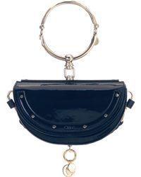 Chloé - Nile Minaudière Leather Bracelet Bag - Lyst