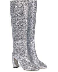 Victoria Beckham Capri 85 Knee-high Boots - Metallic