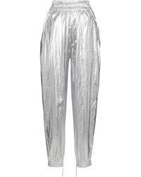 Isabel Marant Pantalones Galoni metalizados tiro alto - Metálico