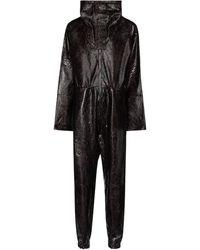 Dodo Bar Or Jumpsuit in pelle stampata - Nero