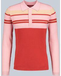 Sies Marjan Jersey Cortez de lana merino - Rojo
