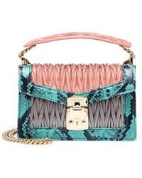 Miu Miu - Confidential Leather Shoulder Bag - Lyst