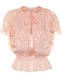 Temperley London Suki Silk Blend Blouse - Pink