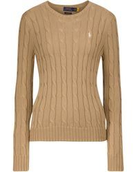 Polo Ralph Lauren Cable-knit Cotton Sweater - Brown