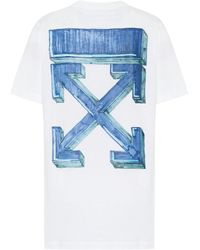 Off-White c/o Virgil Abloh Logo Cotton-jersey T-shirt - Blue