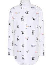 Burberry - Triple Archive Cotton Shirt - Lyst