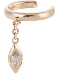 Jacquie Aiche Ear Cuff Marquise aus 14kt Gelbgold mit Diamant - Mettallic