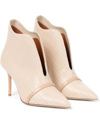 Malone Souliers Cora 85 Leather Ankle Boots - Natural