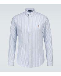 Polo Ralph Lauren Long-sleeved Striped Shirt - Blue