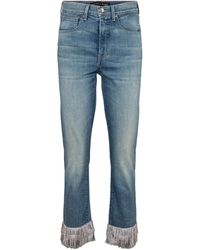 Veronica Beard Jeans skinny Ryleigh de tiro alto - Azul