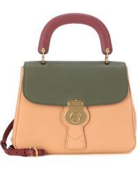 Burberry The Trench Leather Handbag - Green