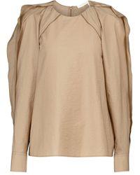 Chloé Cotton-blend Top - Brown