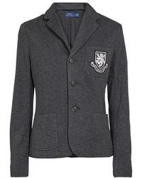 Polo Ralph Lauren Blazer aus einem Baumwollgemisch - Grau