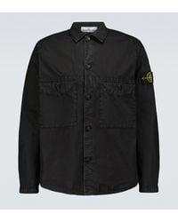 Stone Island T.co+old Cotton Overshirt - Black