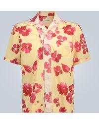 Wales Bonner - Oversized-T-Shirt mit Blumen-Print - Lyst