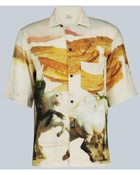 Acne Studios Simon Fluid Horse Vacation Shirt - Multicolor
