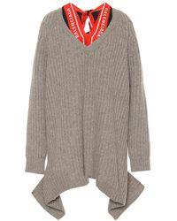 Balenciaga Pullover in lana con foulard logo - Neutro