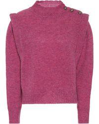 Étoile Isabel Marant Jersey Meery de lana - Rosa