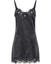 Dolce & Gabbana - Silk Slip Dress - Lyst