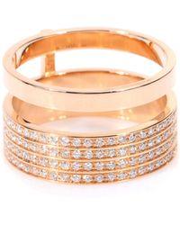Repossi Berbere Module 18kt Rose Gold Ring With Diamonds - Metallic