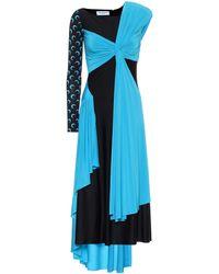 Marine Serre - Asymmetrisches Kleid aus Jersey - Lyst