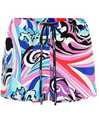 Emilio Pucci - Shorts a stampa in jersey - Lyst