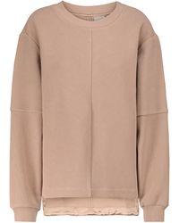 Varley Vanetta Cotton-blend Sweatshirt - Natural