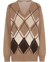 Miu Miu Pullover in lana cammello - Multicolore